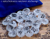 Clear Quartz Elder Futhark Rune Set