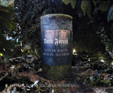 DARK FOREST Old European Witchcraft Rustic Mossy Green Pillar Candle
