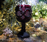 RUBY RED Vintage Glass Goblet Chalice - Small