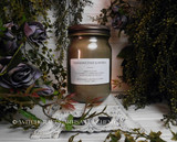 "FRANKINCENSE & MYRRH Essential Oils ""Simply Elegant"" Coco Apricot Crème Luxury Wax Glass Jar Candle with Antique Brown Metal Lid"