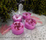 "FAIRY FIRE ""Simply Elegant"" Coco Apricot Crème Wax Magenta Pink Artisan Tealight Candles"