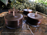 "PATCHOULI ""Simply Elegant"" Soy Paraffin Wax Blend Dark Brown Artisan Tealight Candles"