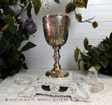 NOBLE Handcrafted Vintage Style Gothic Embossed 100% Brass Goblet Chalice