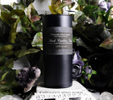 BLACK CAULDRON BREW Signature Scent Coco Crème Paraffin Wax Candle in Matte Black Slim Cylinder Jar