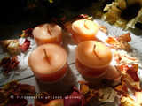 "MIDSUMMER MAGIC ""Simply Elegant"" Coco Apricot Crème Wax Sunshine Orange Artisan Tealight Candles"