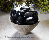 "BLACK OBSIDIAN ""Dragon Glass"" Tumbled Gemstone"