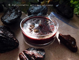 DRAGON'S BLOOD LUXE Resin Coco Apricot Crème Soy Wax Blend Artisan Ox Blood Red Jumbo Tealight Candle w/ Protective Cover