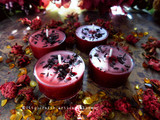 MABON Autumn Equinox Sabbat Coco Apricot Crème Soy Wax Blend Dark Harvest Red Artisan Tealight Candles