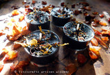 DARK HARVEST NIGHT Samhain Sabbat Soy Paraffin Wax Blend Black Artisan Tealight Candles