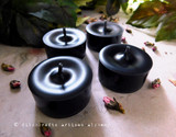 DARK GODDESS Soy Paraffin Wax Blend Black Artisan Tealight Candles