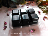 DARK GODDESS Highly Scented Artisan Black Soy Paraffin Wax Blend Clamshell Melts