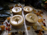 FRANKINCENSE & MYRRH Soy Paraffin Wax Blend Beige Brown Artisan Tealight Candles