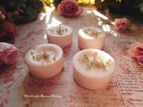BLOOM Ostara Sabbat Soy Paraffin Wax Blend Peachy Pink Artisan Tealight Candles