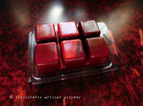 PERSEPHONE'S POMEGRANATE Queen of the Underworld Highly Scented Dark Red Artisan Soy Paraffin Wax Blend Clamshell Melts