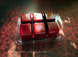 POISON APPLE Wicked Witch's Magic Highly Scented Dark Blood Red Artisan Soy Paraffin Wax Blend Clamshell Melts