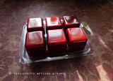 VAMPIRE KISS Gothic Witchcraft Highly Scented Dark Blood Red Artisan Soy Paraffin Wax Blend Clamshell Melts