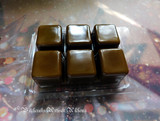 NUTCRACKER Highly Scented Dark Brown Artisan Soy Paraffin Wax Blend Clamshell Melts