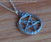 PENTAGRAM SERPENT Ouroboros Pentacle Necklace