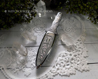 Engraved Silver Boot Athame