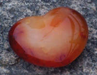 Carnelian Gemstone Heart
