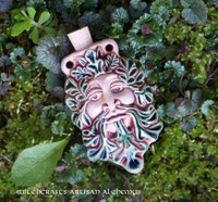 GREENMAN Fired Clay Pendant Potion Bottle