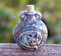 CAT SPIRIT Ceramic Pendant Potion Bottle