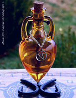 OLD WAYS WITCH Pentacle Burnished Amber Amphora w/ Stand