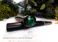 CELTIC PENTAGRAM Green Jewel Athame Dagger
