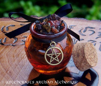 WITCH'S CAULDRON Gemstone Resin Incense Honey Pot