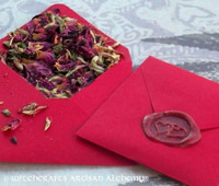 """LUCKY IN LOVE """"Spirit of Magic"""" Herb Loaded Envelope Packet"""