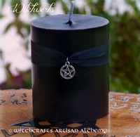 WITCHWERKS Unscented Black Pillar Candle