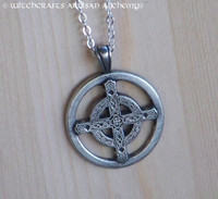 CELTIC UNITY CROSS Silver Pewter Amulet Pendant Necklace