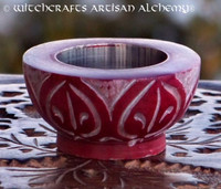 SACRED FIRE Red Stone Cone Burner or Tealight Holder