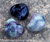 Fluorite Gemstone Heart