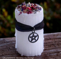 WHITE WITCHCRAFT Old European Cunning Craft Pillar Candle