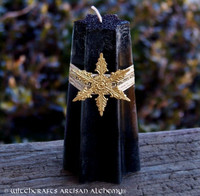 "DRAGON STAR ""Old European Witchcraft"" Lodestar Star Pillar Candle"