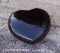 DEEP MIND Black Obsidian Gemstone Heart