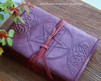 Celtic Pentagram Leather Journal w/ Wrap Cord