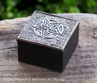 Celtic Pentacle Metal and Wood Trinket Box