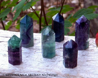 FLUORITE Crystal Standing Tower Point