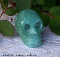 Green Adventurine Skull 1.5""
