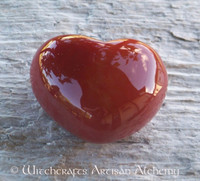 Carnelian Gemstone Heart 1-3/4""