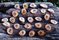 Cedar Wood Rune Set with Pouch