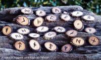 Apple Wood Rune Set with Pouch