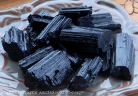 BLACK TOURMALINE (Schorl) Rough Natural Crystal Specimen