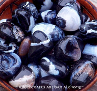 BLACK SARDONYX Tumbled Gemstones
