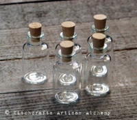 Clear Glass DIY 5ml Vial w/ Cork, Set of 5