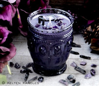 "HECATE Coco Apricot Crème Luxury Wax ""Heirloom Heritage"" Purple Glass Container Candle"