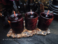 MORRIGAN Dark Cranberry Red Pillar Votive Candles
