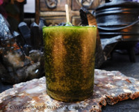 THE MONEY TREE Green Highly Scented Pillar Votive Candle